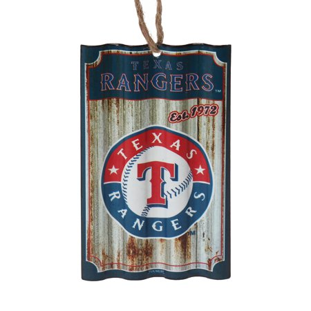 Texas Rangers Metal Corrugate Ornament