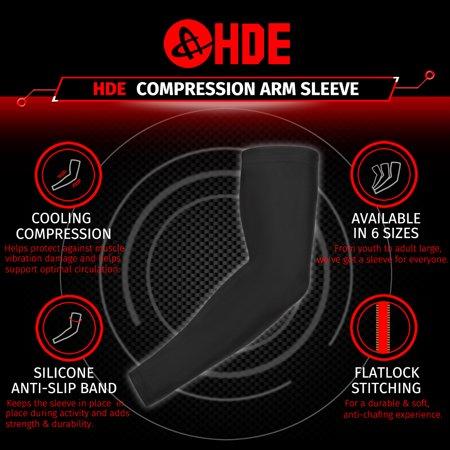 e50a9885bb HDE Arm Compression Sleeves for Kids Basketball Shooting Sleeve - Youth  Sports Football Baseball Softball ...