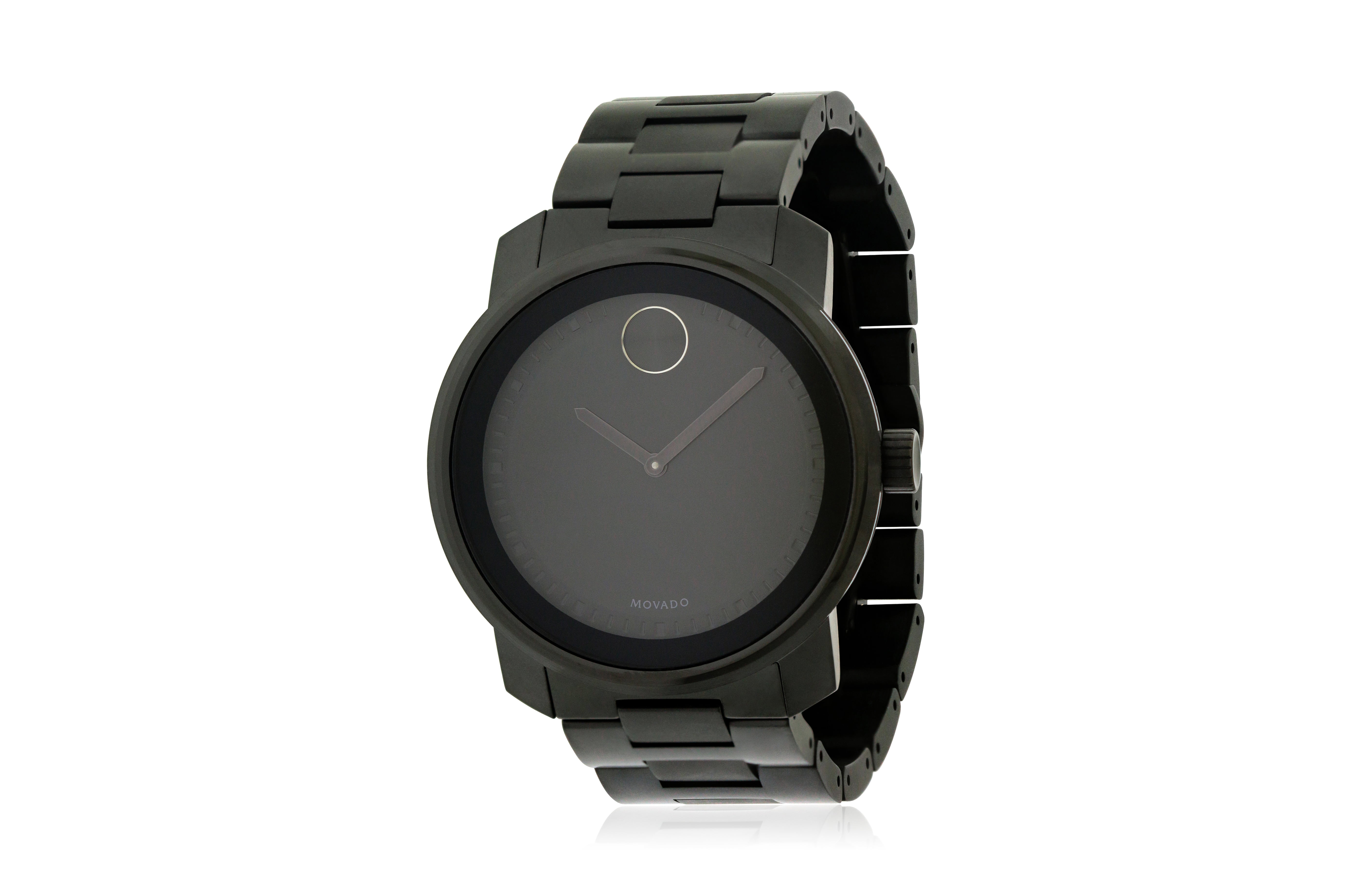 5beda64f0 Movado - Movado Bold Black Stainless Steel Mens Watch 3600471 - Walmart.com