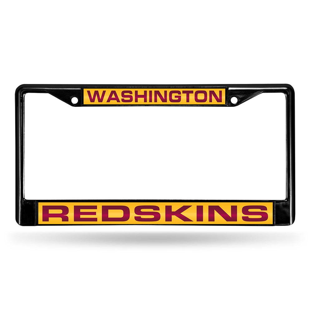 Washington Redskins Team Name Silver Glitter Metal Frame