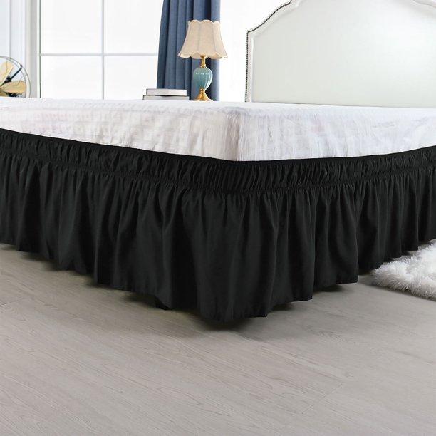 Drop Bed Skirt Polyester Dust Ruffle, Queen Size Bed Skirt 15 Drop