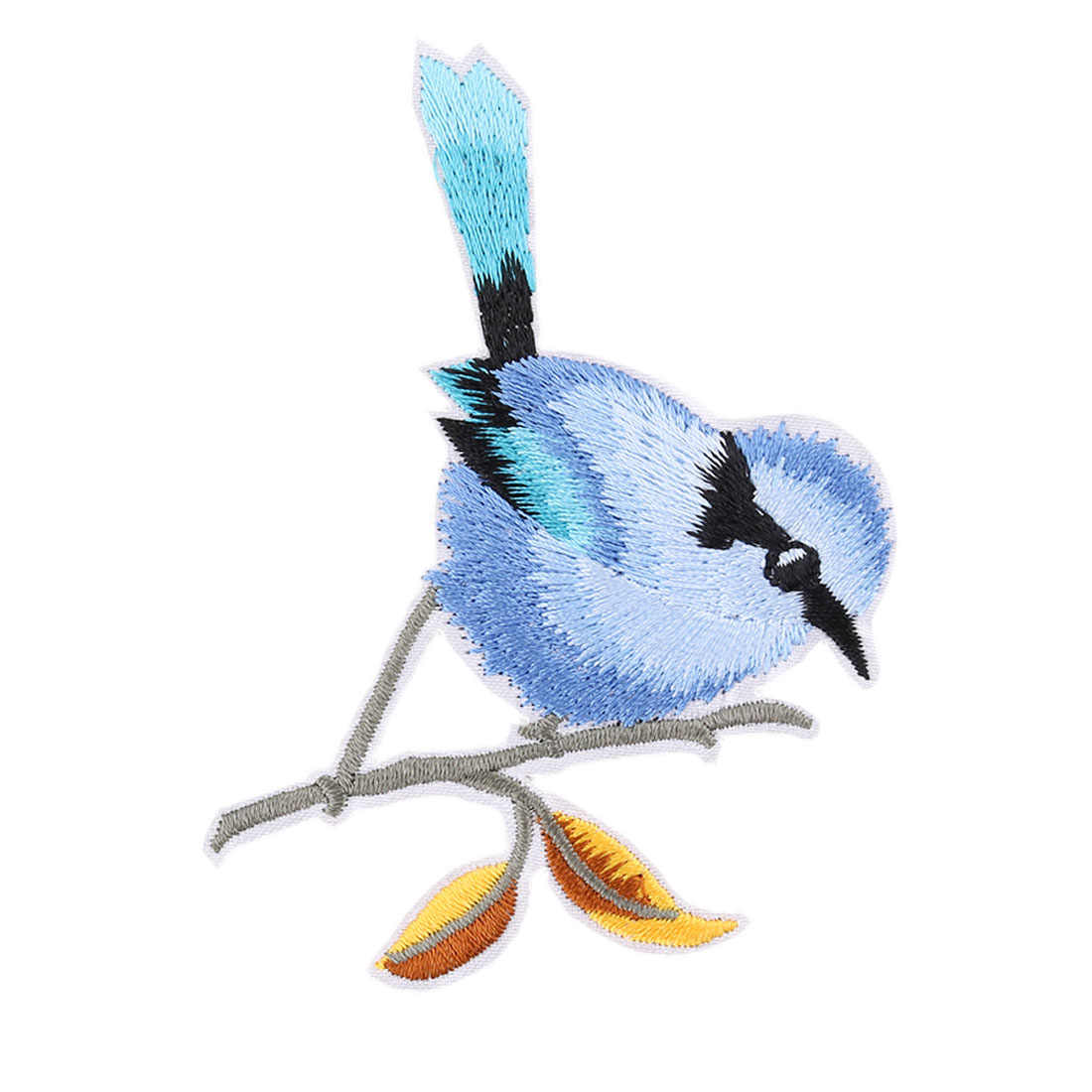 Unique Bargains Household Polyester Bird Pattern Embroidery DIY Clothes Lace Applique Sky Blue