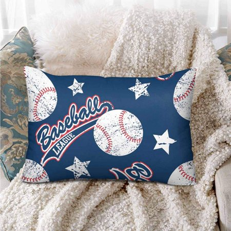 GCKG Baseballs Stars Seamless Pattern Pillow Cases Pillowcase 20x30 inches - image 1 de 4