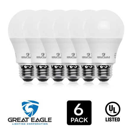 Great Eagle LED Dimmable Light Bulb, 14W (100W Equivalent), 2700K Warm White, 1500 Lumens, A19 shape, E26 base, UL Listed, Brightest and Best LED bulbs for general use.