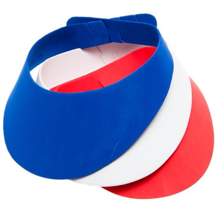 Red, White, and Blue Foam Visors for $<!---->