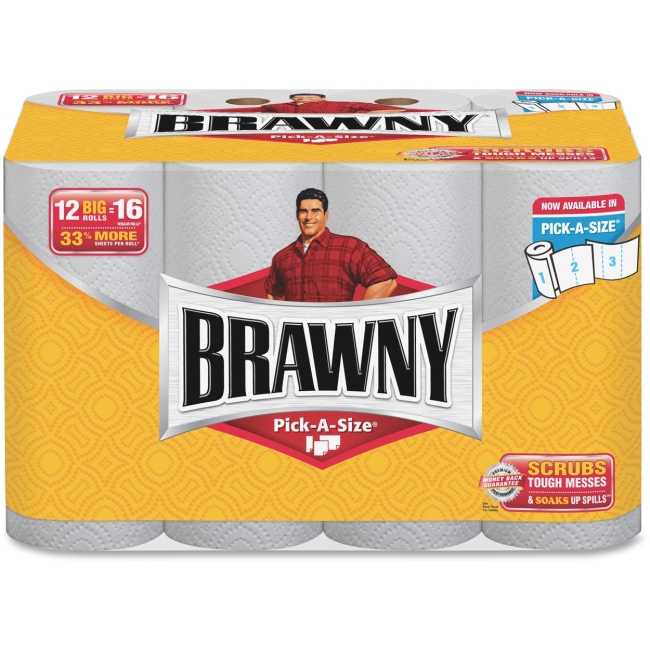 BRAWNY Industrial Paper Towels - 102 Sheets per Roll