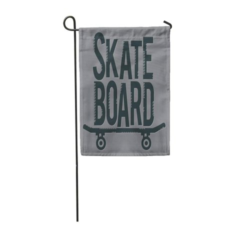 Flag Skateboard Deck - SIDONKU Gray Side Skate Board Graphics Activity California Collection Culture Deck Garden Flag Decorative Flag House Banner 28x40 inch