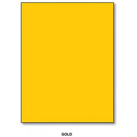 (Bright Color Card Stock Paper, 65lb. 8.5 X 11 Inches - 50 Sheets -Gold)