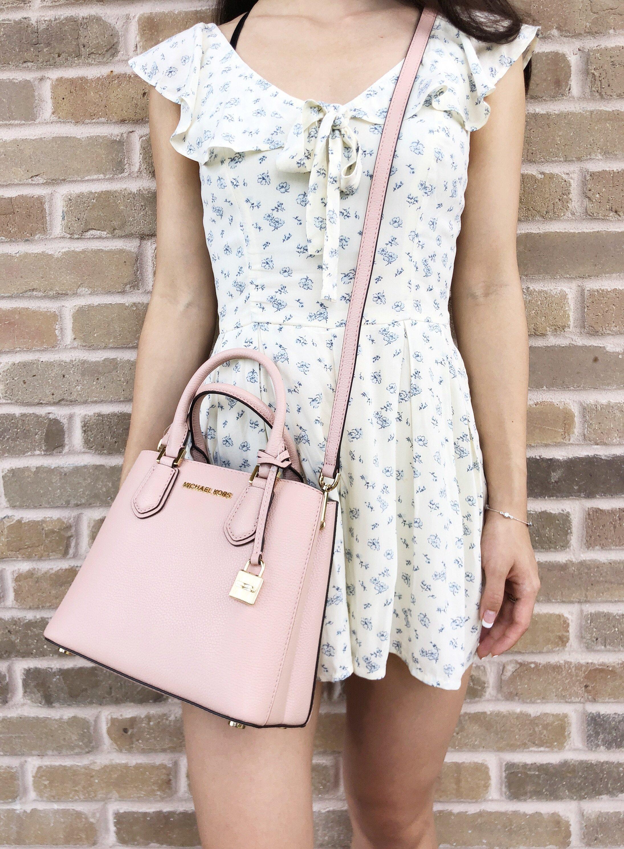 94b32062d292 Michael Kors Adele Mercer Medium Messenger Bag Pastel Pink Ballet Leather -  Walmart.com