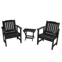 highwood® 2 Lehigh Garden Chairs with 1 Folding Adirondack Side Table