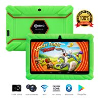 """Contixo K2 7"""" Educational 6.0 Android Tablet for Kids Learning Entertainment Apps Toys for Children Toddler Bluetooth WiFi Dual Camera Parental Control Kid-Proof Protective Case (Green)"""