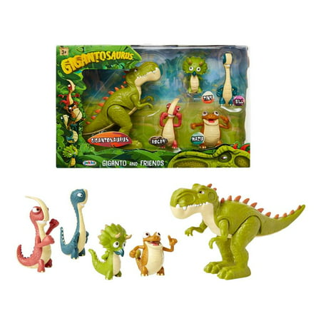 Rocky Horror Characters (Gigantosaurus Figures Giganto & Friends Toy Action Figures, Includes: Giganto, Mazu, Bill, Tiny & Rocky – Articulated Characters Range from 2.5-5.5