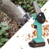 KKmoon 24V 4/6 inch Mini ChainSaw Electric Pruning Saw Rechargeable  Woodworking One-handed Electric Saw