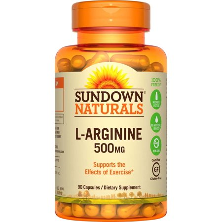 Sundown L-Arginine 500 MG Capsules, 90 Ct (Best Arginine Supplement For Ed)