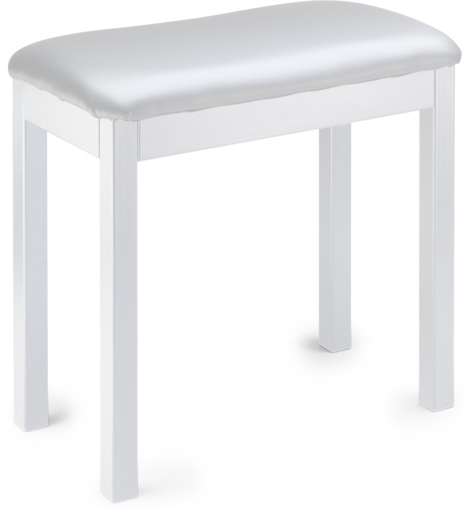 Stagg PBF20 MET WHSWH Metal Piano Bench - White with Whit...