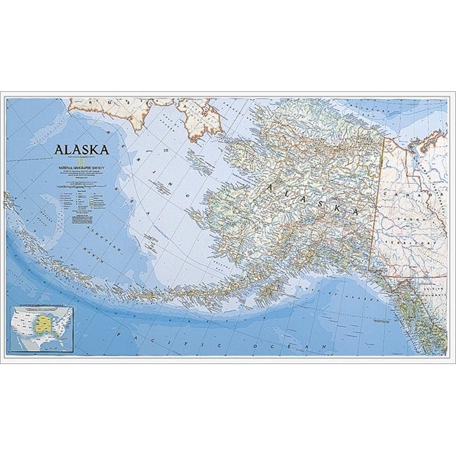 National Geographic RE00620168 Map Of Alaska - Laminated