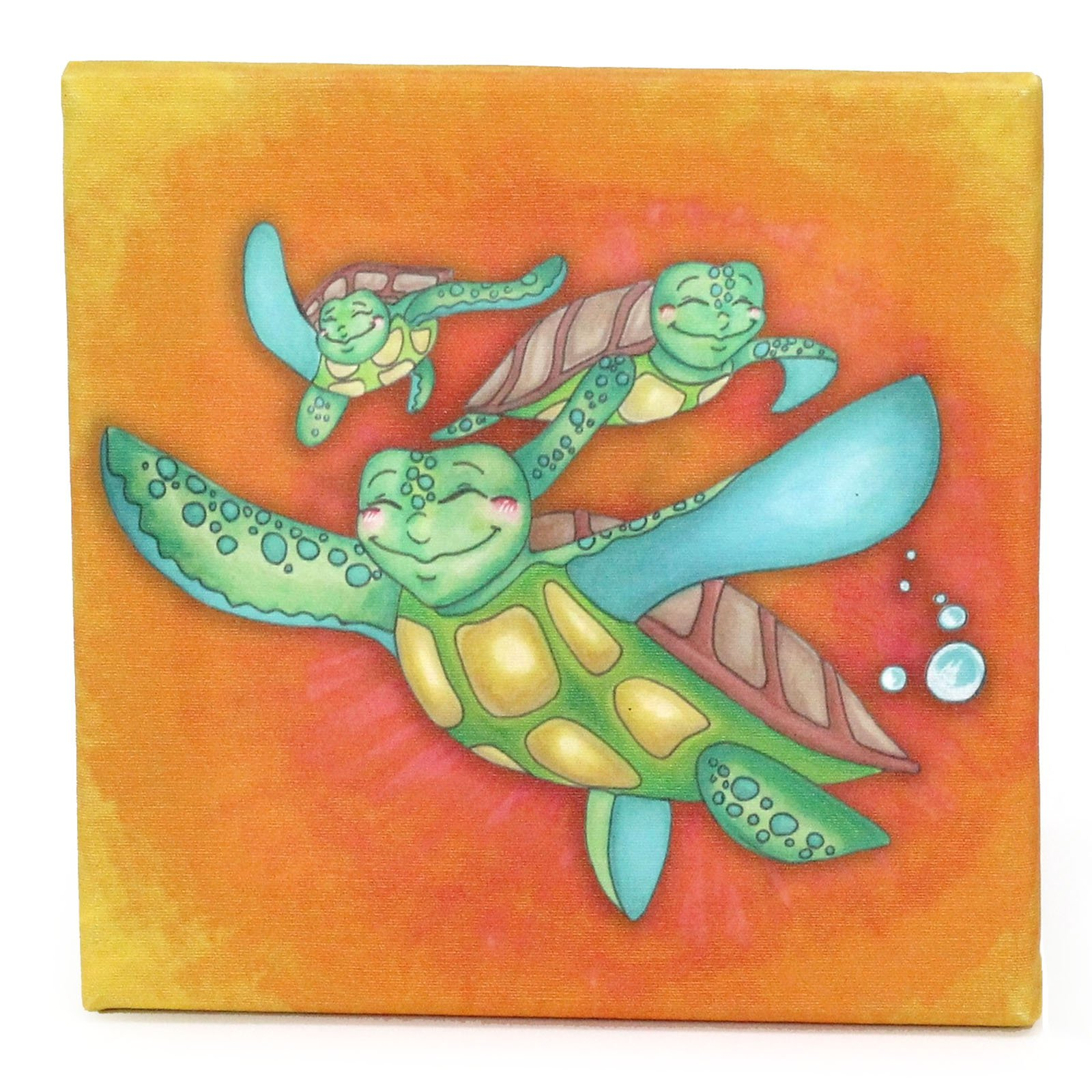 Childrens Sea Turtle Journey Growing Kids Collection Off to Sea Canvas Print Wall Art