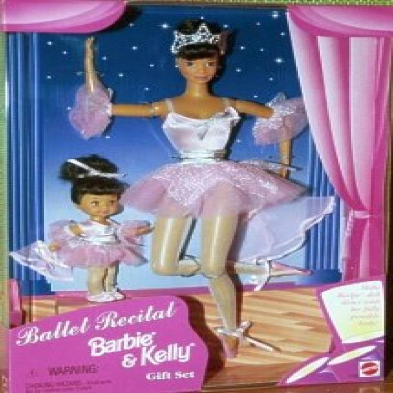 Ballet Recital Barbie and Kelly Giftset African American by