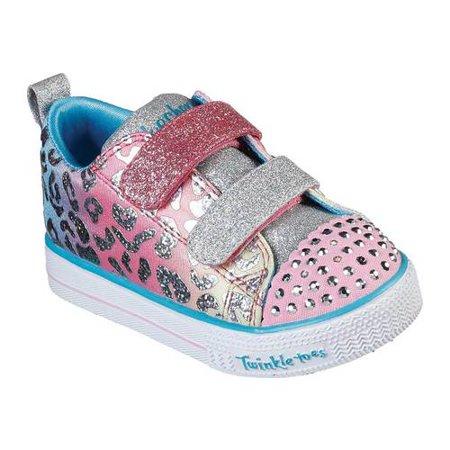 Infant Girls' Skechers Twinkle Toes Shuffle Lite Sneaker