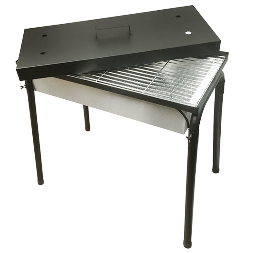 Portable High Stainless Steel Charcoal Grill Stand Griddle Comal Cooking