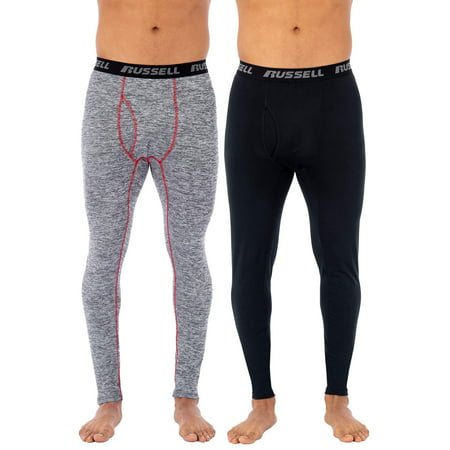 Russell Men's L2 Active Performance Base Layer Thermal Pant, Value 2 Pack