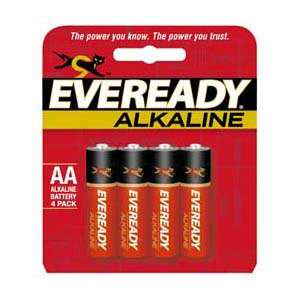 EVEREADY GOLD AA Batteries, 4pk