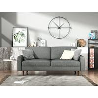 US Pride Furniture Elvin Linen Fabric Sofa, Light Gray, S5416-S
