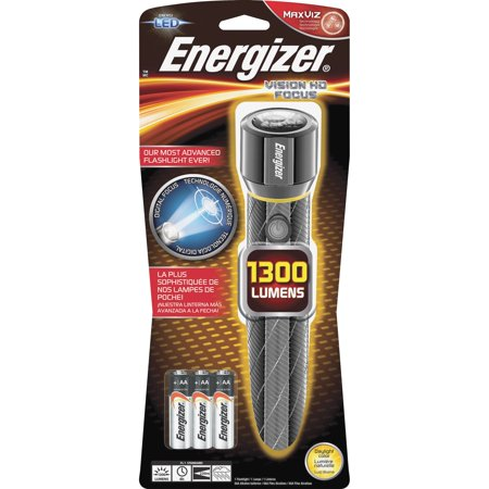 Energizer Vision HD Extra Performance Metal Flashlight with Digital Focus