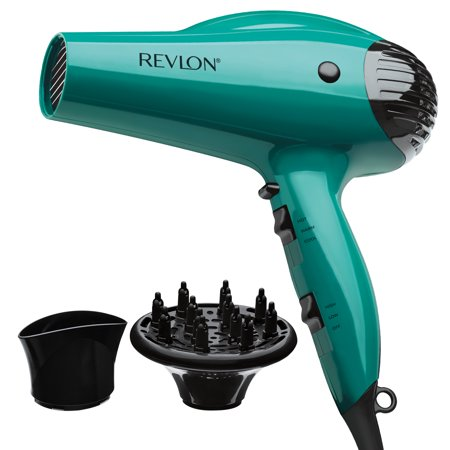 Revlon Essentials Volume Booster Hair Dryer RVDR5036 1875W IONIC TECHNOLOGY®, Teal with 2 attachments