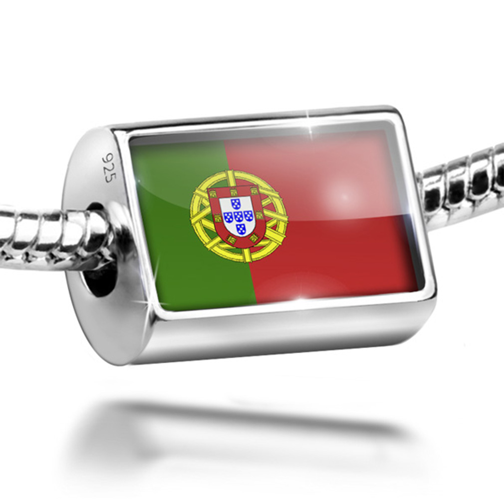 Bead Portugal Flag Charm Fits All European Bracelets by NEONBLOND