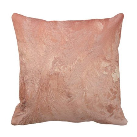 BSDHOME Rose Gold Copper Pillowcase Cushion Cover 16x16 inches - image 1 of 1