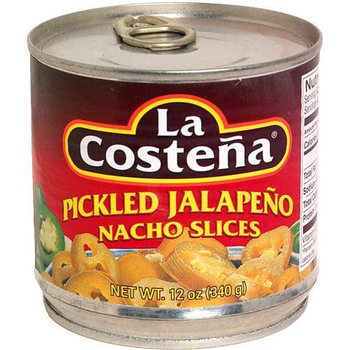 La Costena Pickled Jalapeno Nacho Slices, 12 oz (Pack of 12)