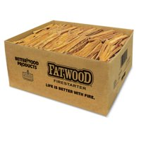 Betterwood Products 9951 Natural Pine Hand Split Fatwood 50 Pound Firestarter