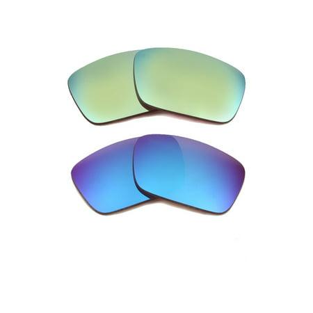 02a58232707 Seek Optics - Best SEEK Polarized Replacement Lenses for Oakley FUEL CELL  Blue Green Mirror - Walmart.com