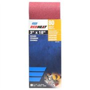 Norton 50192-038 Red Heat Ceramic Sanding Belt, 80-Grit, 3 x 18-In. - Quantity 1