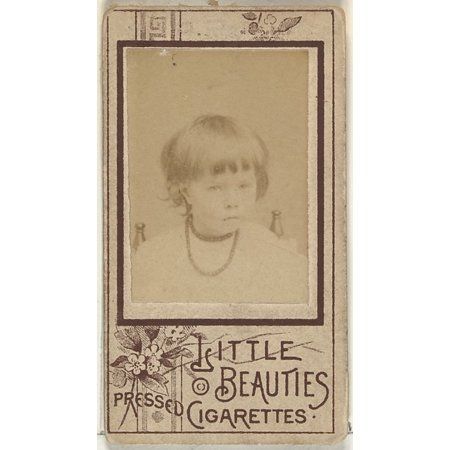 From the Girls series (N59) promoting Little Beauties Pressed Cigarettes for Allen & Ginter brand tobacco products Poster Print (18 x (Beauty Pill Cigarette Girl From The Future)