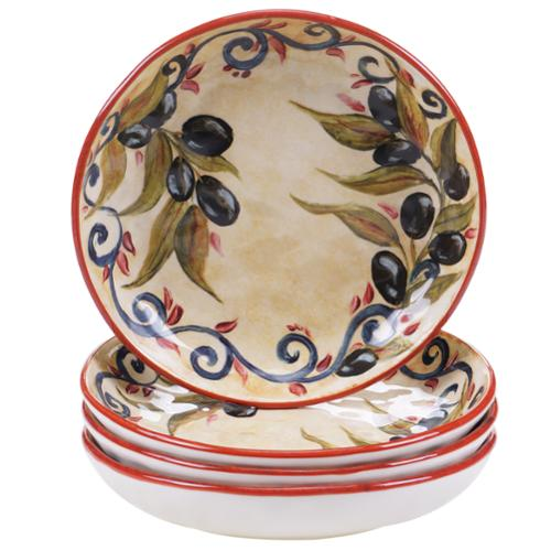 Certified International Umbria 8.5-inch Soup/Pasta Bowls (Set of 4)