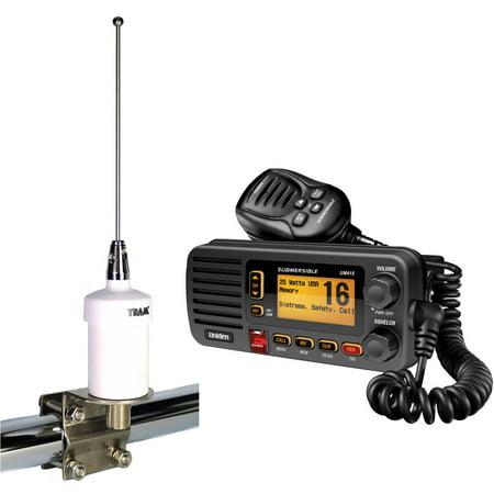 - Uniden UM415BK Oceanus D Marine Radio and Tram 1603 VHF Marine Antenna, Black