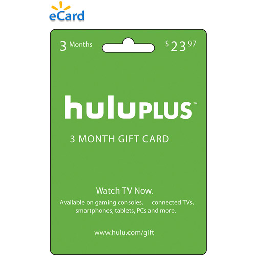 (Email Delivery) Hulu 3 Month eCard