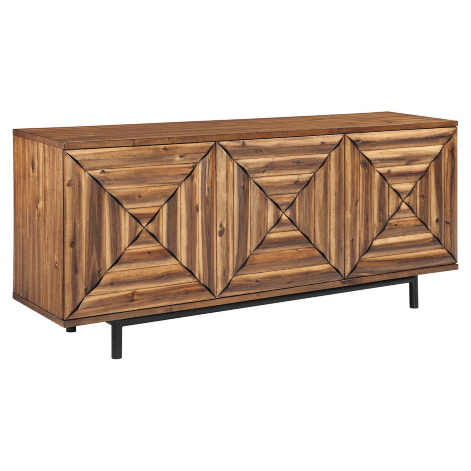 Signature Design by Ashley Fair Ridge 72 in. Three Door Accent Cabinet