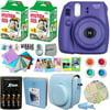 FujiFilm Instax Mini 8 Camera PURPLE + Accessory KIT for Fujifilm Instax Mini 8 Camera includes: 40 Instax Film + Custom Case + 4 AA Rechargeable Batteries + Assorted Frames + Photo Album + MORE