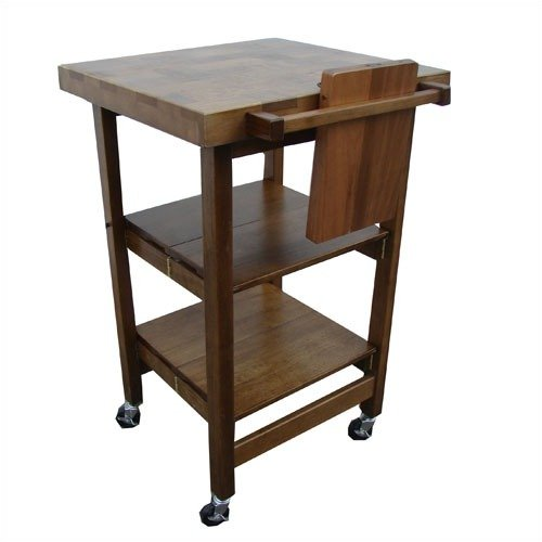 Oasis Concepts All Purpose Folding Kitchen Island Walnut