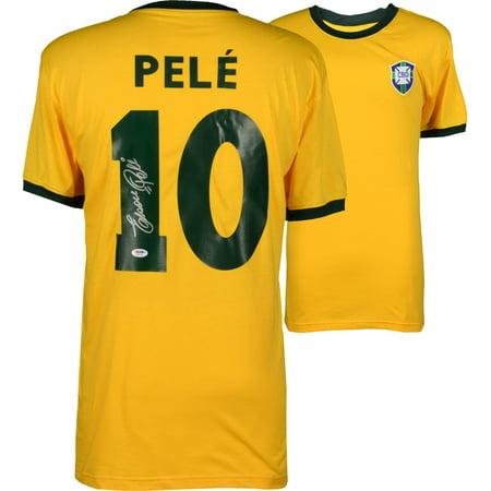 Edson Pele Brazil Autographed Yellow Jersey - Fanatics Authentic Certified ()