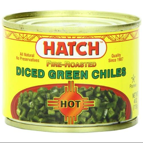Hatch Hot Fire-Roasted Diced Green Chiles, 4 oz