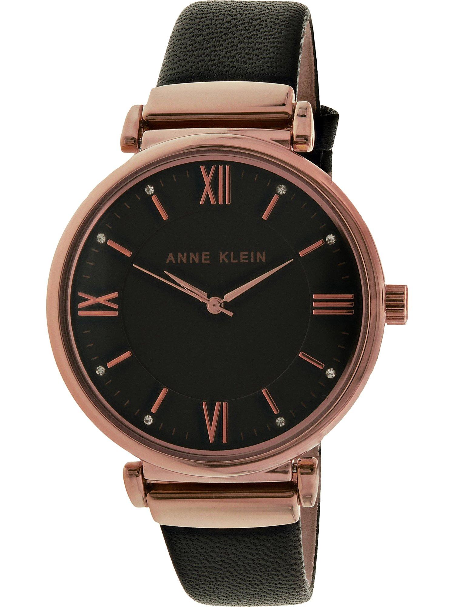 Women's AK-2666RGBK Rose-Gold Leather Quartz Fashion Watch