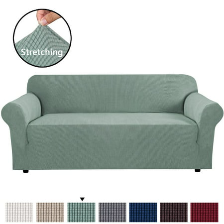 Stretch Extra Large Sofa Slipcover, Sofa Covers for Living Room, 1 Piece Furniture Lounge Cover for Sofa, Feature Spandex Jacquard Fabric for 4 Seater Sofa Cover (XL Sofa, Sage) Slipcovered Sleeper Sofa