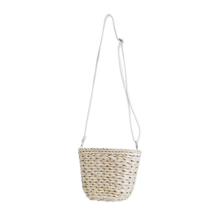 Women Straw Beach Bag Handwoven Rattan Handbags Crossbody Bag Tote Summer  - image 4 de 6