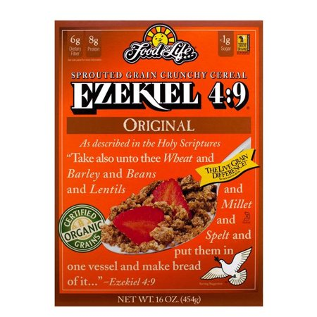 Food For Life Organic Ezekiel 4:9 Sprouted Whole Grain Cereal, Original , 16 Oz (Pack of