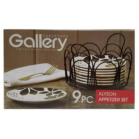 Tabletops Gallery ALYSON 9-Piece App Plate Set