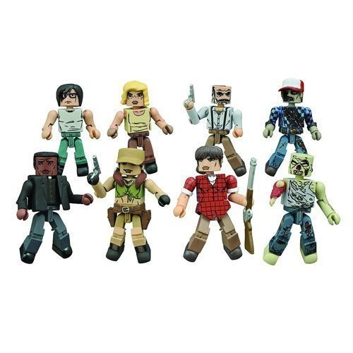 Diamond Select Toys The Walking Dead Minimates Series 8 complete set of four 2-packs